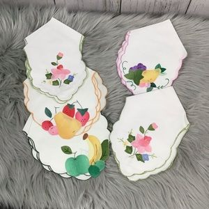 Vintage napkin set- fruits